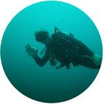 Impressum: Unterwasseraufnahme von Boje beim Tauchen vor Bali / Indonesien als Symbol für Impressum