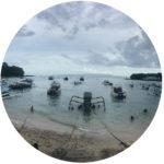 Boje Arndt Kiesiel | Coach in Berlin: Foto der Bucht von Padang-Bai mit Booten im Osten von Bali / Indonesien als Symbol für Sitzungsreise